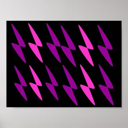 Arte abstracto púrpura y rosado del infinito posters
