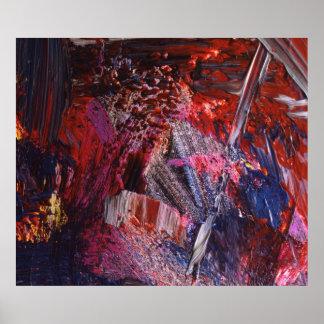 Arte abstracto que pinta 3 póster