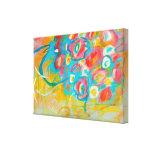 Arte abstracto que pinta las flores florales lona estirada galerias