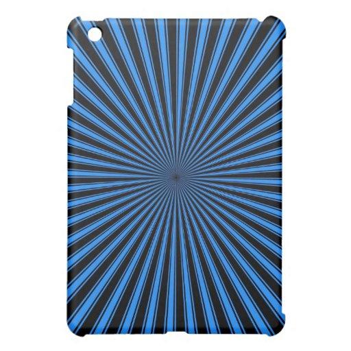 Arte abstracto rayado enrrollado azul y negro