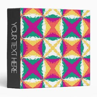 "Arte abstracto retro 2 del remolino colorido del carpeta 1 1/2"""