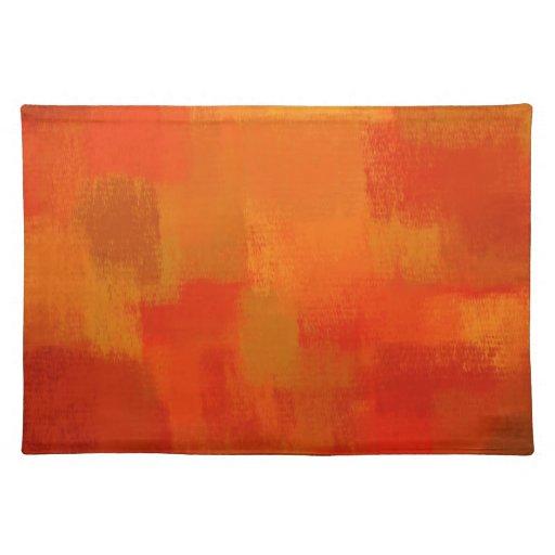Arte abstracto retro abstracto 28 de la pintura el manteles individuales