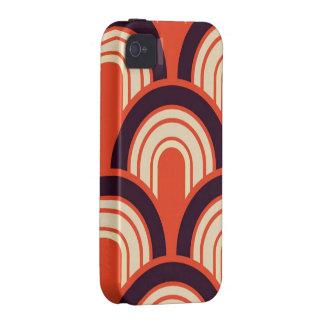 Arte abstracto retro de los años 50 del art déco iPhone 4 carcasas