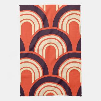 Arte abstracto retro de los años 50 del art déco toallas de mano