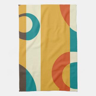 Arte abstracto retro de los años 50 del vintage toalla de cocina