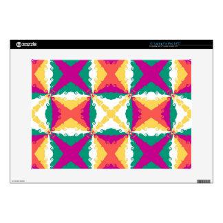 Arte abstracto retro del remolino colorido del art calcomanías para portátiles