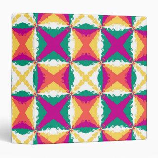 "Arte abstracto retro del remolino colorido del art carpeta 1 1/2"""