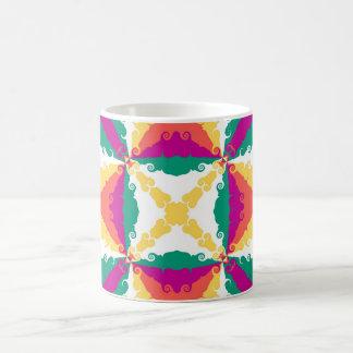 Arte abstracto retro del remolino colorido del art tazas