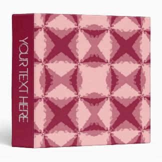 """Arte abstracto retro del remolino floral rosado carpeta 1 1/2"""""""