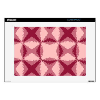Arte abstracto retro del remolino floral rosado de portátil calcomanía