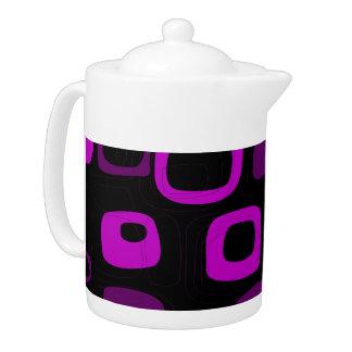 Arte abstracto retro negro, púrpura, violeta