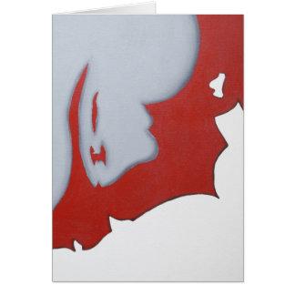 Arte abstracto rojo blanco y gris tarjetón