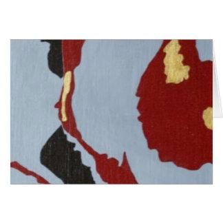 Arte abstracto rojo negro y gris tarjeta