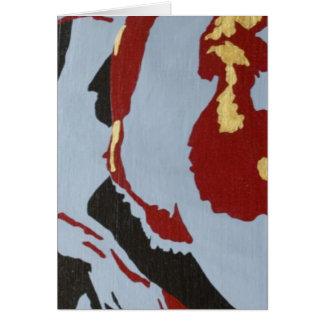Arte abstracto rojo negro y gris felicitacion