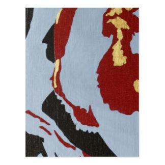 Arte abstracto rojo negro y gris tarjetas postales