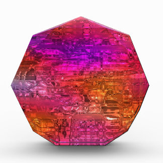 Arte abstracto, rosa anaranjado púrpura