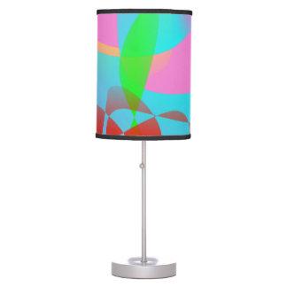 Arte abstracto rosado atractivo lámpara de mesa