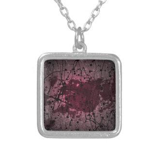 Arte abstracto rosado de la salpicadura collares