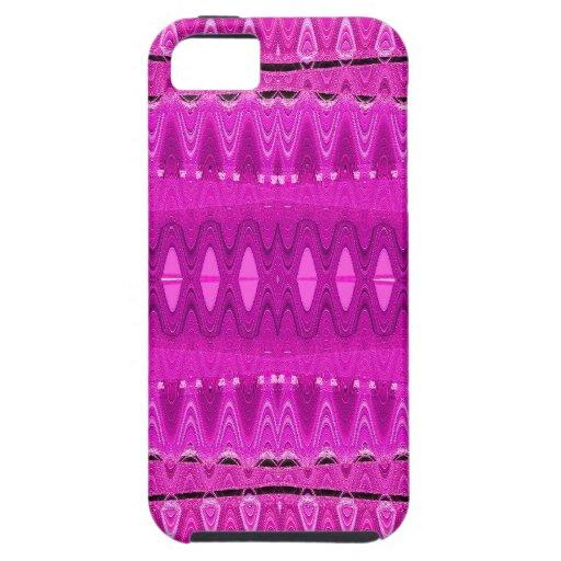 Arte abstracto rosado iPhone 5 protectores