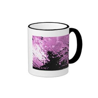 Arte abstracto rosado taza de café