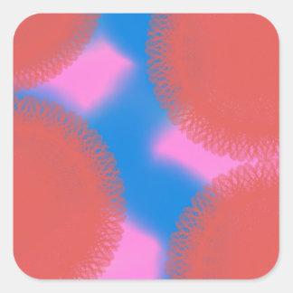 arte abstracto rosado y del azul rojo 56789 colcomanias cuadradass