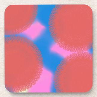 arte abstracto rosado y del azul rojo 56789 posavasos de bebida