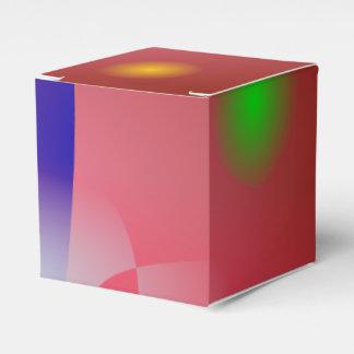 Arte abstracto simple rojizo 2 cajas para regalos