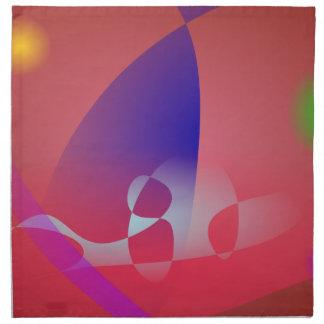 Arte abstracto simple rojizo 2 servilleta imprimida