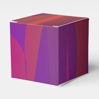 Arte abstracto simple rojizo cajas para detalles de boda