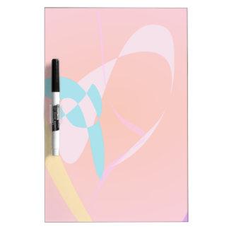 Arte abstracto simple rosado coralino pizarras blancas