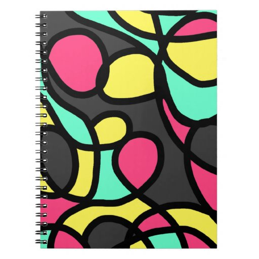 Arte abstracto spiral notebooks