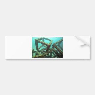 Arte abstracto subacuático de los cubos concretos pegatina de parachoque