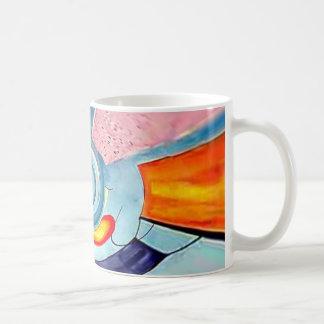 Arte abstracto surrealista taza