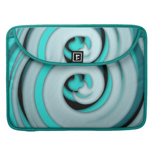 Arte abstracto Swirly del hielo del trullo Fundas Macbook Pro