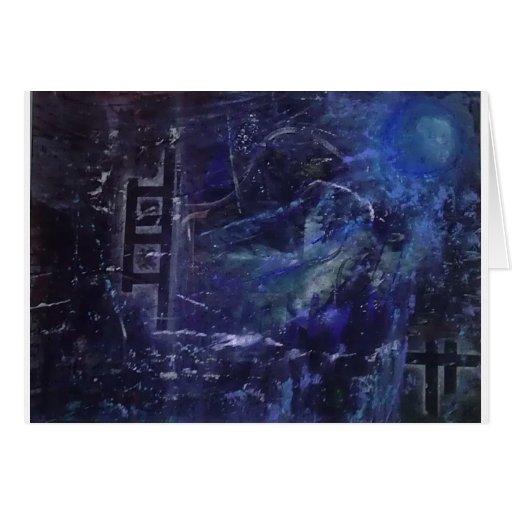 Arte abstracto tarjeta de felicitación