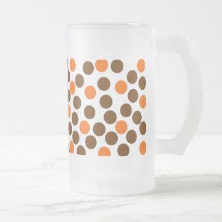 Arte abstracto taza cristal mate