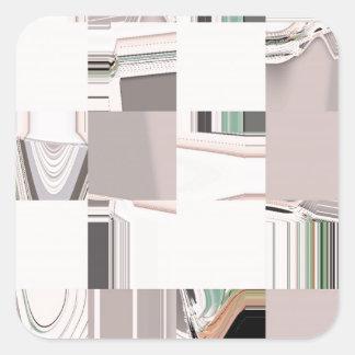 Arte abstracto tejado pegatina cuadrada