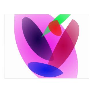 Arte abstracto translúcido simple postal