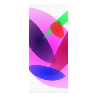 Arte abstracto translúcido simple tarjetas publicitarias