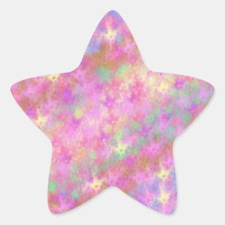 Arte abstracto trémulo brillante de Digitaces Calcomanias Forma De Estrella