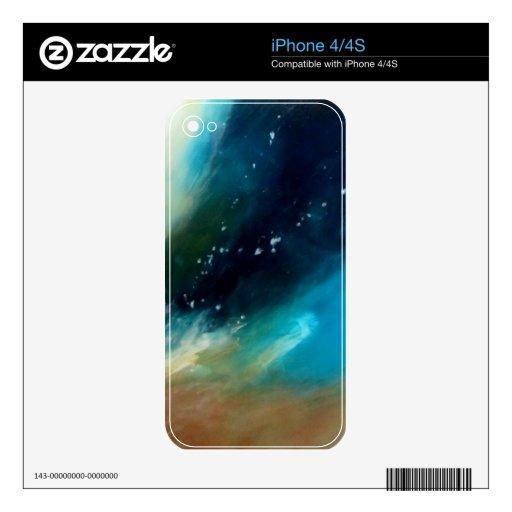 Arte abstracto único de la piel, moderno, azul tur iPhone 4S skins