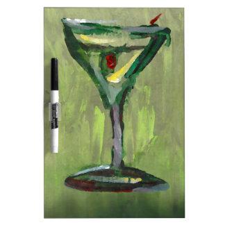 arte abstracto verde de la barra del cóctel de la  pizarras blancas de calidad