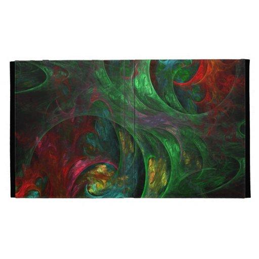 Arte abstracto verde de la génesis