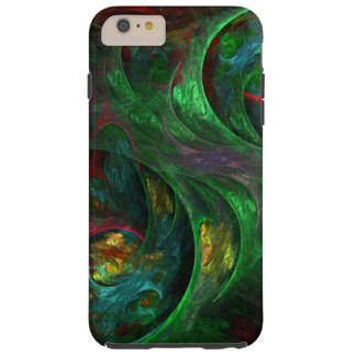 Arte abstracto verde de la génesis funda de iPhone 6 plus tough