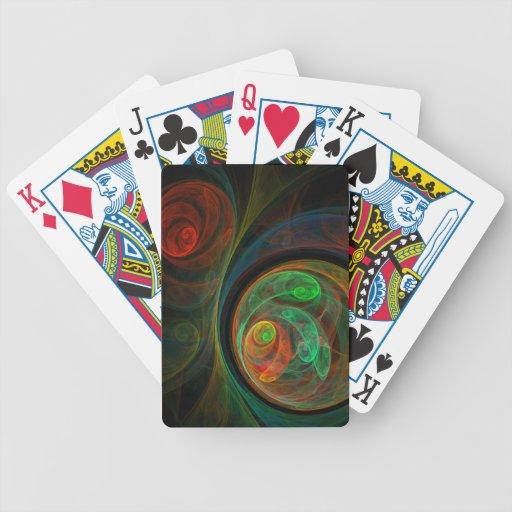 Arte abstracto verde del renacimiento cartas de juego