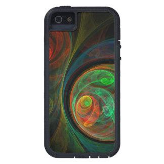 Arte abstracto verde del renacimiento iPhone 5 Case-Mate cobertura