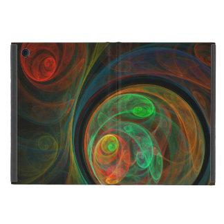 Arte abstracto verde del renacimiento iPad mini coberturas