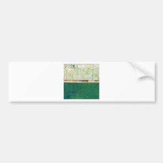 Arte abstracto verde que pinta la quintilla del ir pegatina de parachoque