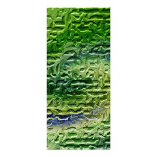 Arte abstracto verde lona
