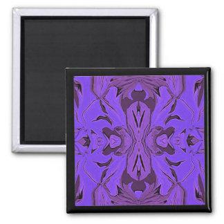 Arte abstracto violeta azul para el refrigerador imán de frigorífico